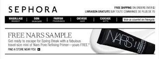 Free NARS Pore Refinging Primer
