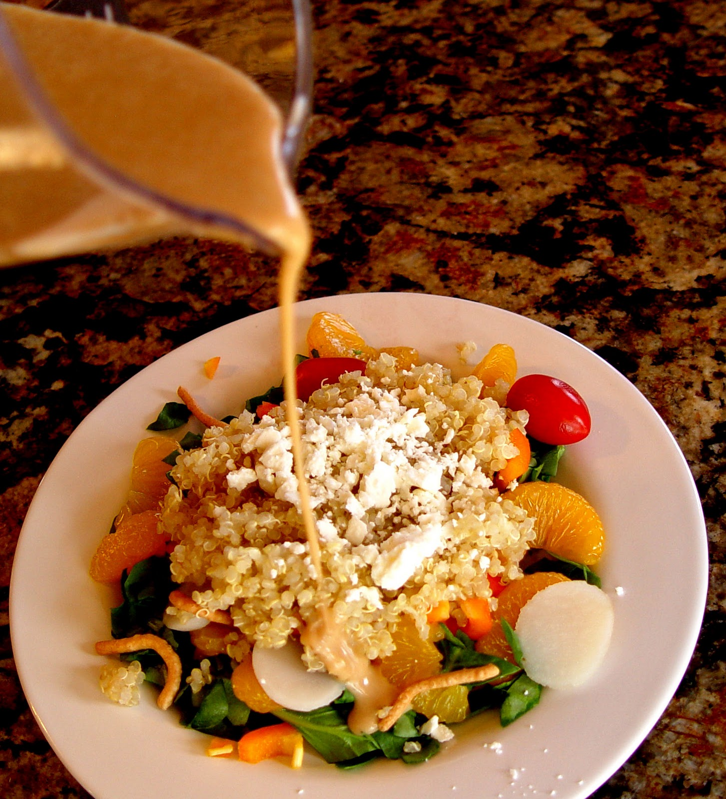 Quinoa Mandarin and Feta Salad
