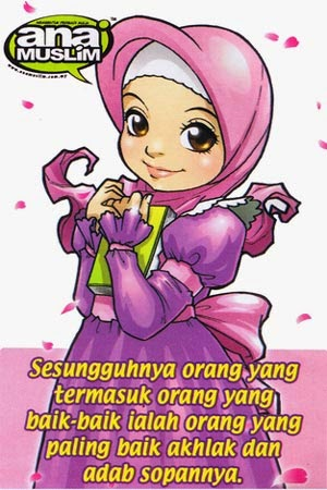 Gambar Kartun Wanita Muslimah Berkata