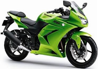 2012 Kawasaki Ninja 250R green - standard color/graphic edition