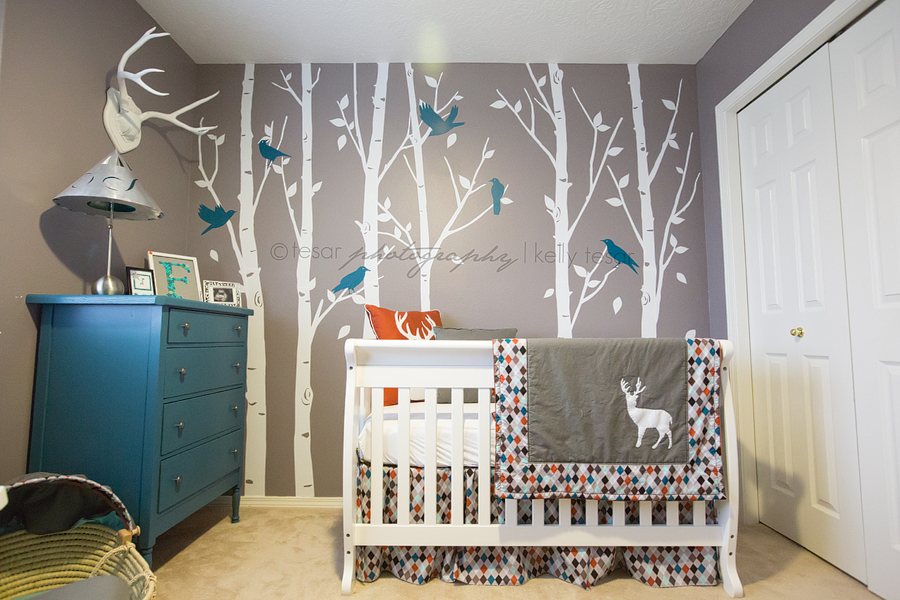 From The Gorgeous Woodland Wall And Deer Painting To Bright Bedding Fowler S Nursery Is Perfect E For Daddy Future Hunting Buddy Love