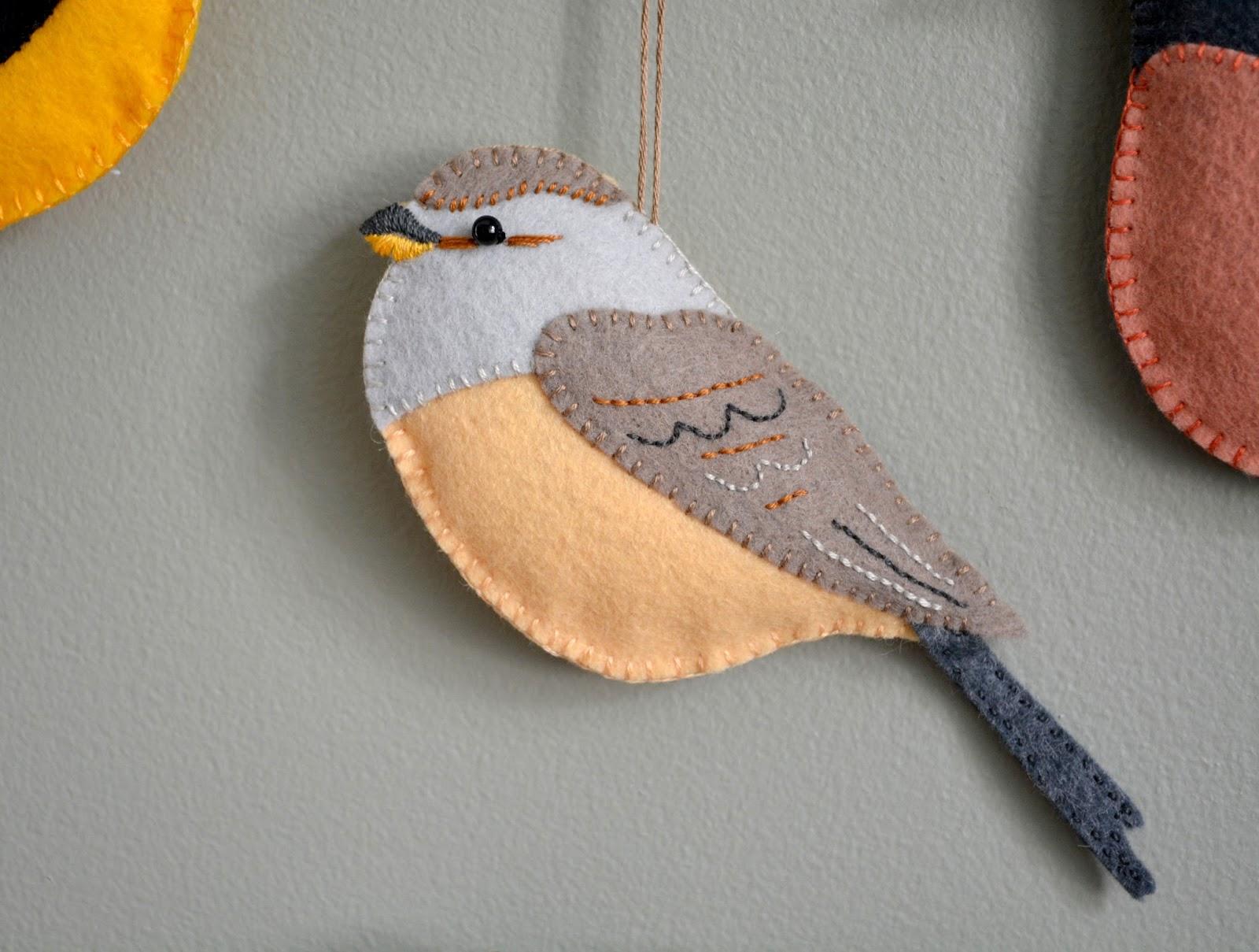 cozy birdhouse | felt birds