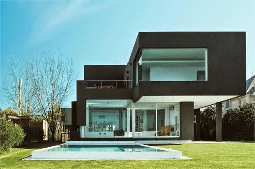 30 fachadas de casas modernas e cinza a cor do momento for Casas modernas futuristas