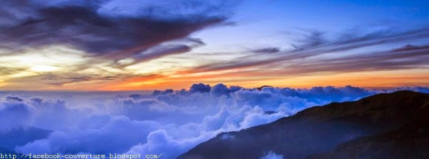 Belle photo de couverture facebook nuages
