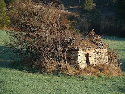 Barraca de vinya a la zona de Can Sivila de la Roca