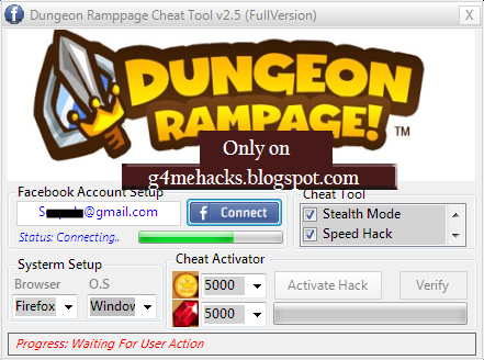 Dungeon Rampage Facebook Game Cheats Hack Free Game Hack Cheat