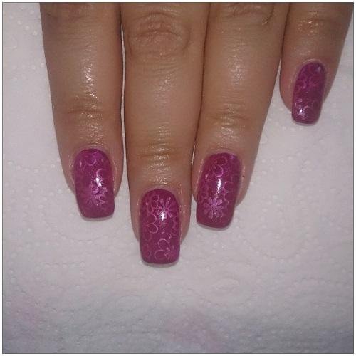 berry flower gel nails honeynsunshine en. Black Bedroom Furniture Sets. Home Design Ideas