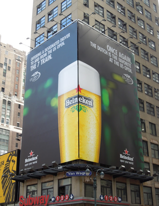Heineken US Open 2012 billboards NYC