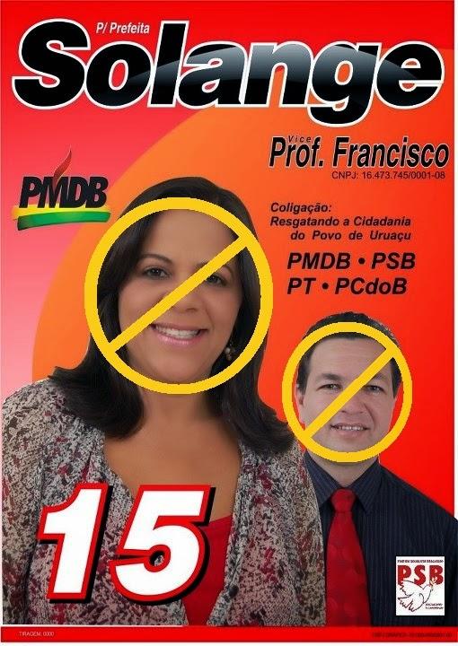 Eu NÃO apoio o [Des]Governo da prefeita Solange