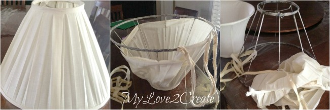 MyLove2Create Salvage Style, taking apart lamp shade