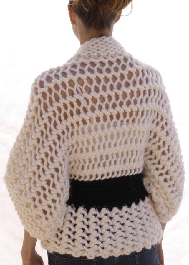 Knit 1 La The Openwork Kimono
