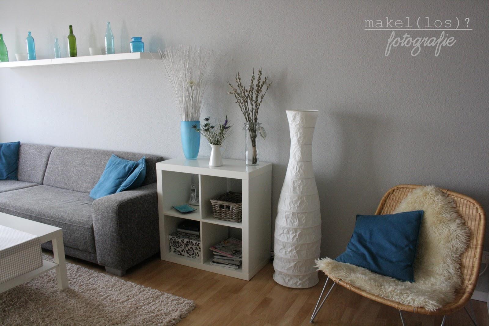Wohnzimmer gestalten grau weiss blau - Wohnzimmer blau grau ...