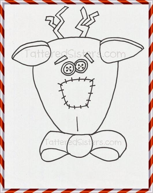 Reindeer Doodle Freebie Pattern