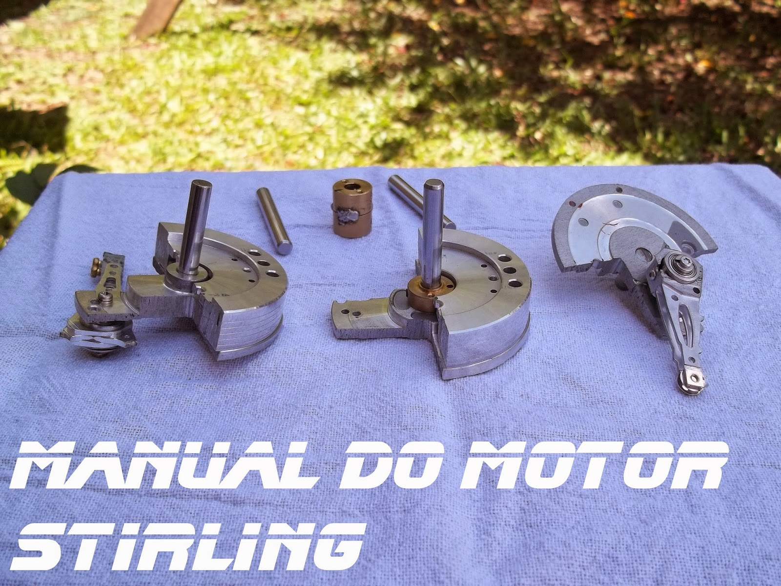 Kit a para a montagem do virabrequim, Manual do motor Stirling