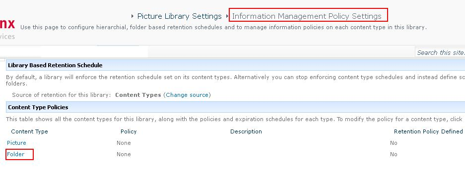 My Time Break For Sharepoint Retention Policy Document Library