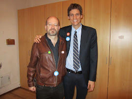 Bill Tieleman and NDP Vancouver-Point Grey candidate David Eby