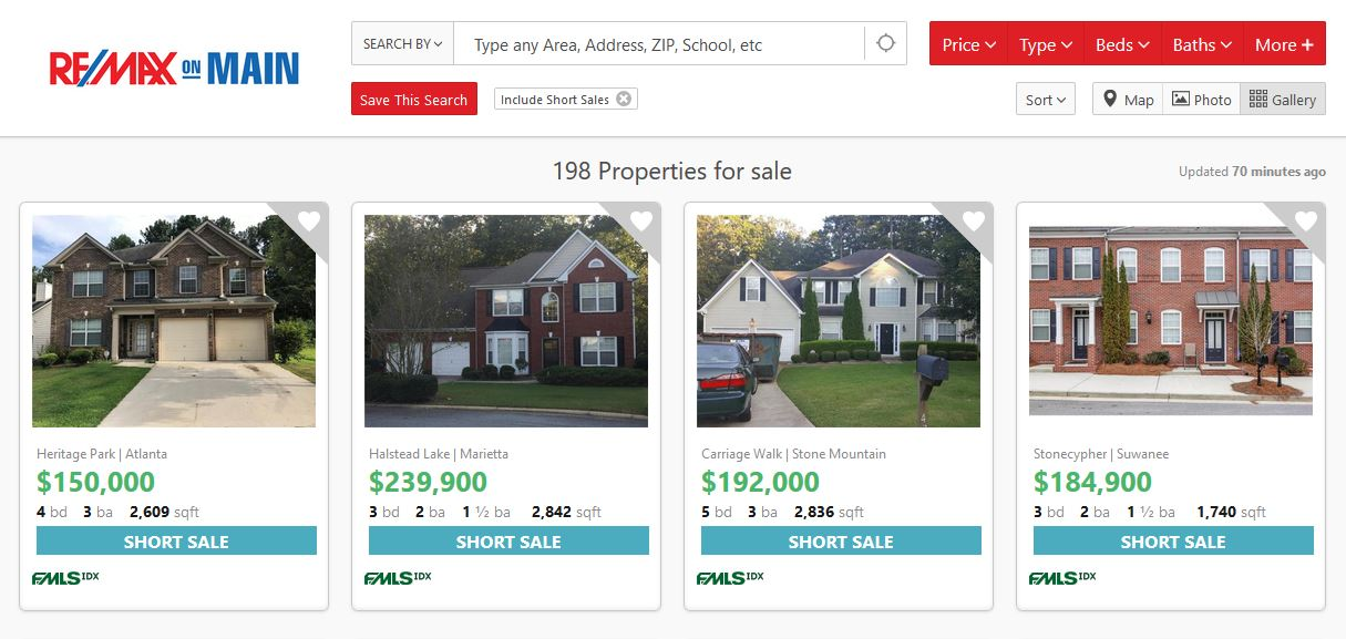 Short Sale Search-RE/MAX ON MAIN
