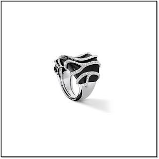 Zebra square : La Bague pierre précieuse Lepage
