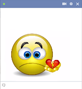 Broken heart - Animated smiley