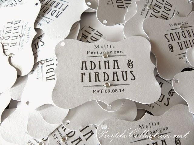 Tag wedding favour door gift printing cetak sticker round