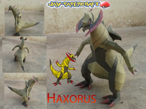 Pokemon Haxorus Papercraft