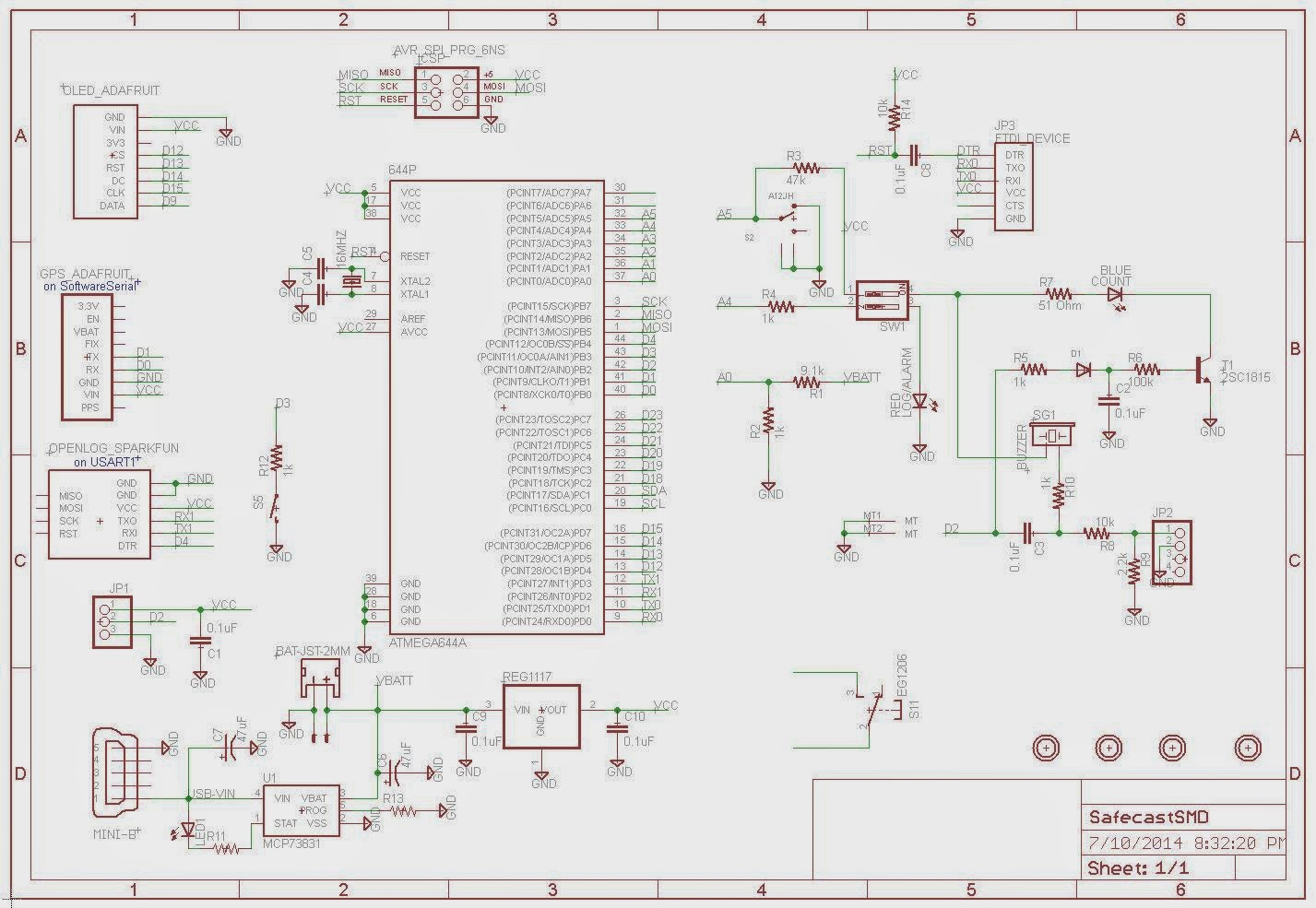 Wise time with Arduino: bGeigie Nano PCB remixed Arduino Nano Schematic on arduino circuit schematic, arduino led schematic, arduino mini schematic, arduino uno schematic, attiny85 schematic, arduino r3 schematic, arduino board schematic, photocell schematic, arduino ethernet schematic, arduino pro schematic, arduino mega schematic, arduino shield schematic, speaker schematic, arduino micro schematic, arduino schematic pdf, breadboard schematic, arduino lcd schematic, arduino pinout diagram, ultrasonic schematic, arduino relay diagram,