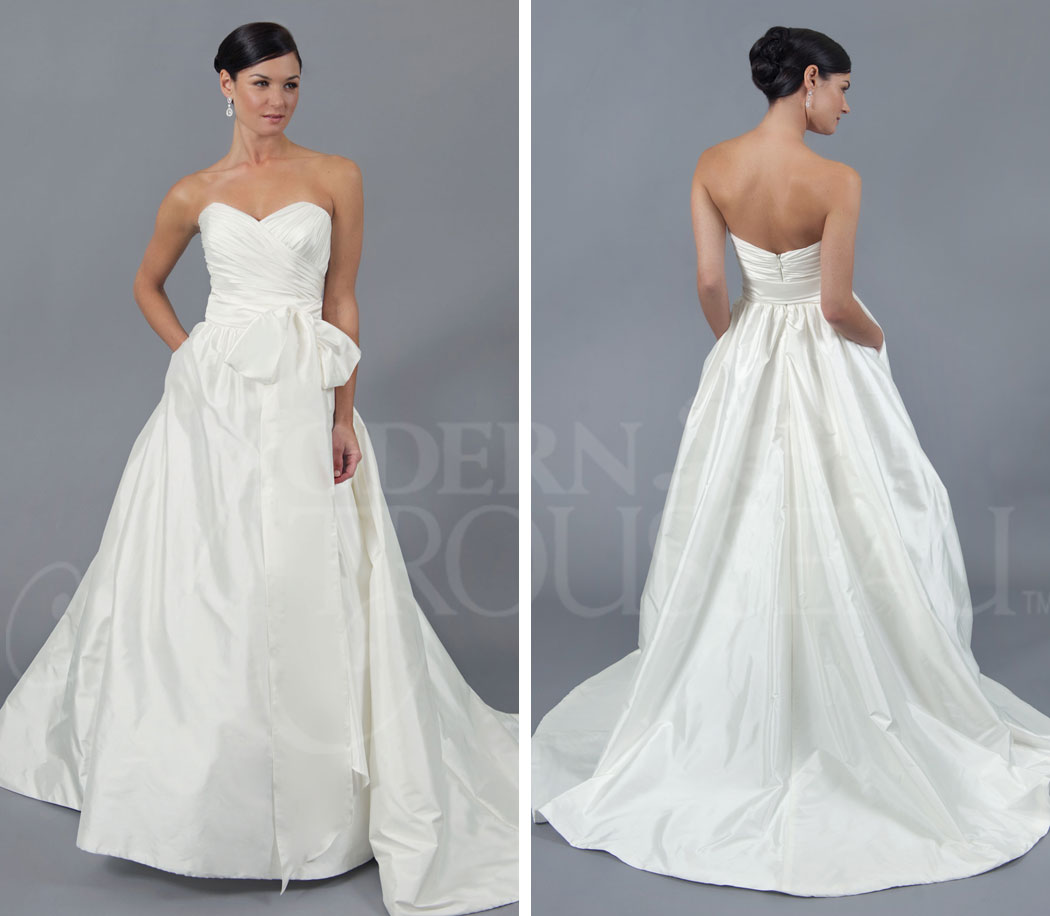 The white magnolia bridal collection modern trousseau for Discount wedding dresses tampa