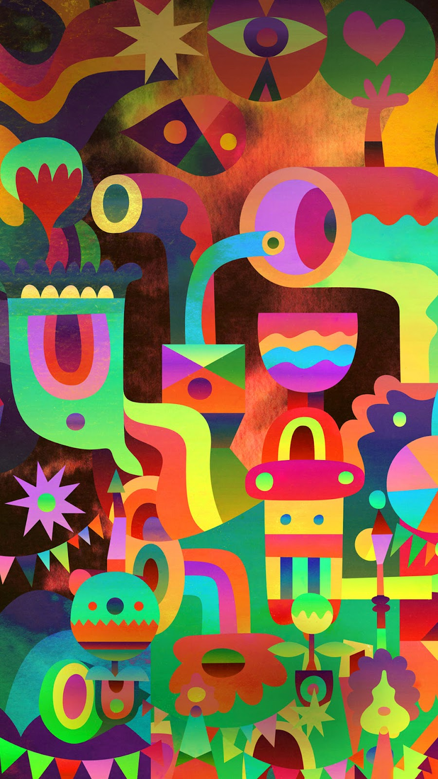 android image wallpaper 3d abstract colorful shapes | the best