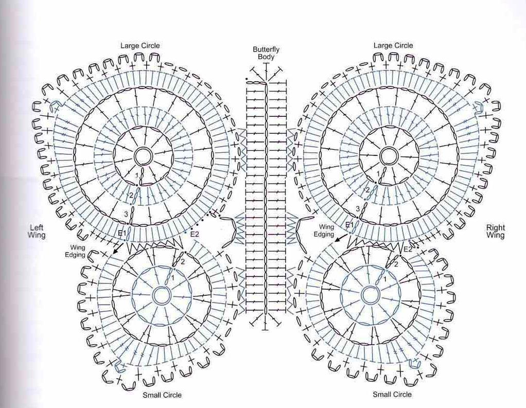 TRICO y CROCHET-madona-mía: Mariposas /borboletas padrón crochet