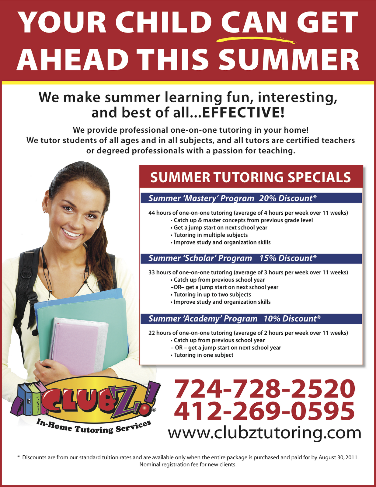 Summer tutoring flyer