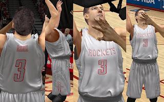 NBA 2K13 Houston Rockets Alternate Jersey Mod