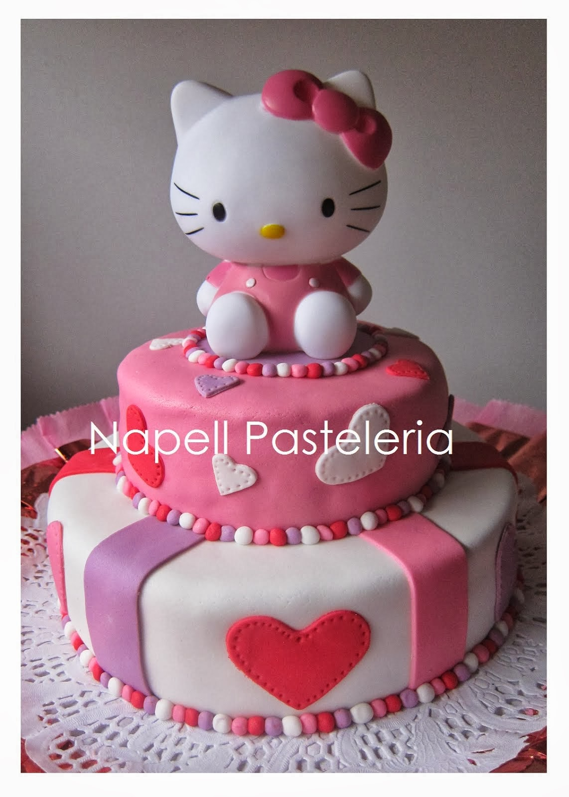 Torta doble Kitty