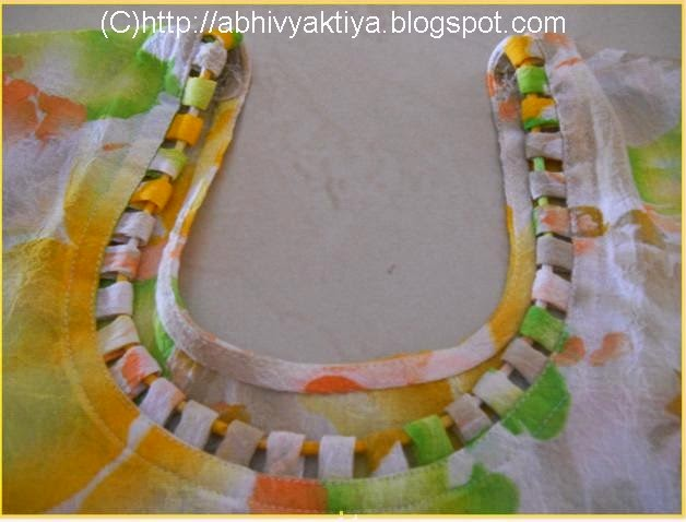 neckline pattern made with cord or dori