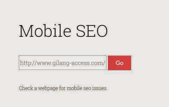 Cara cek Mobile Seo Friendly Blog