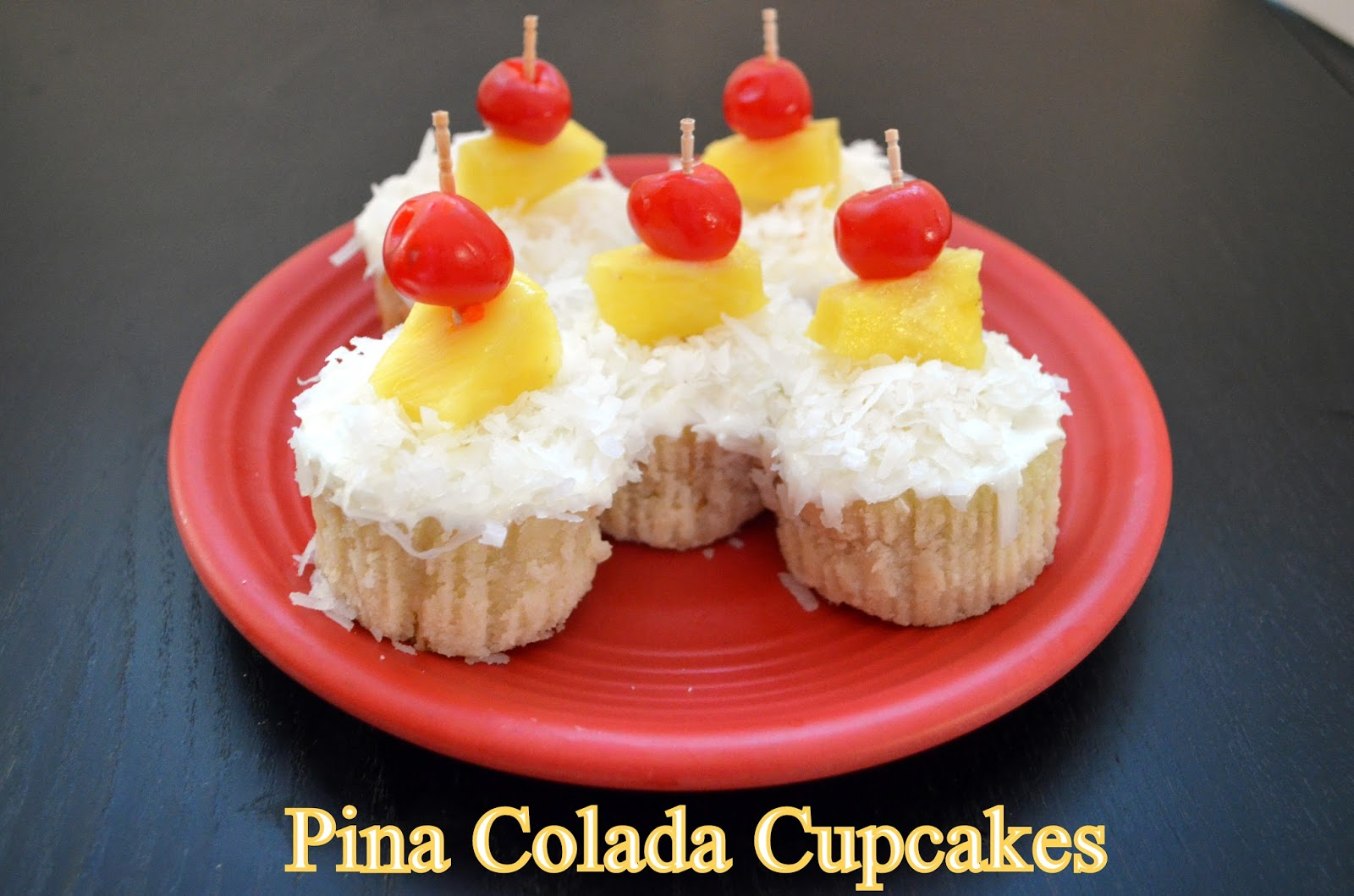 Flavors by Four: Pina Colada Cupcakes
