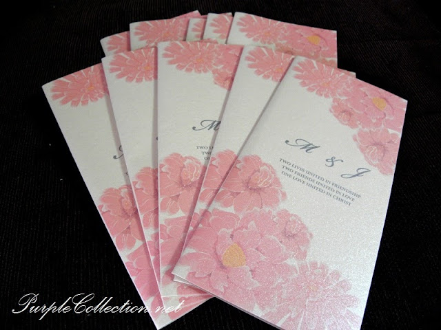 peach, pink, flower, floral, wedding card, invitation card, sabah, tuaran, church of the st. john apostle, dewan seri sulaman tuaran