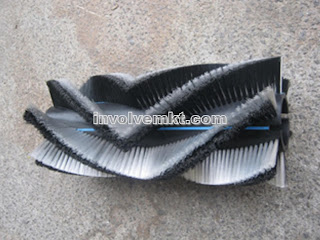 cylinder brush, rotating brush, roller brush, rotating machine brush, industrial cleaning brush