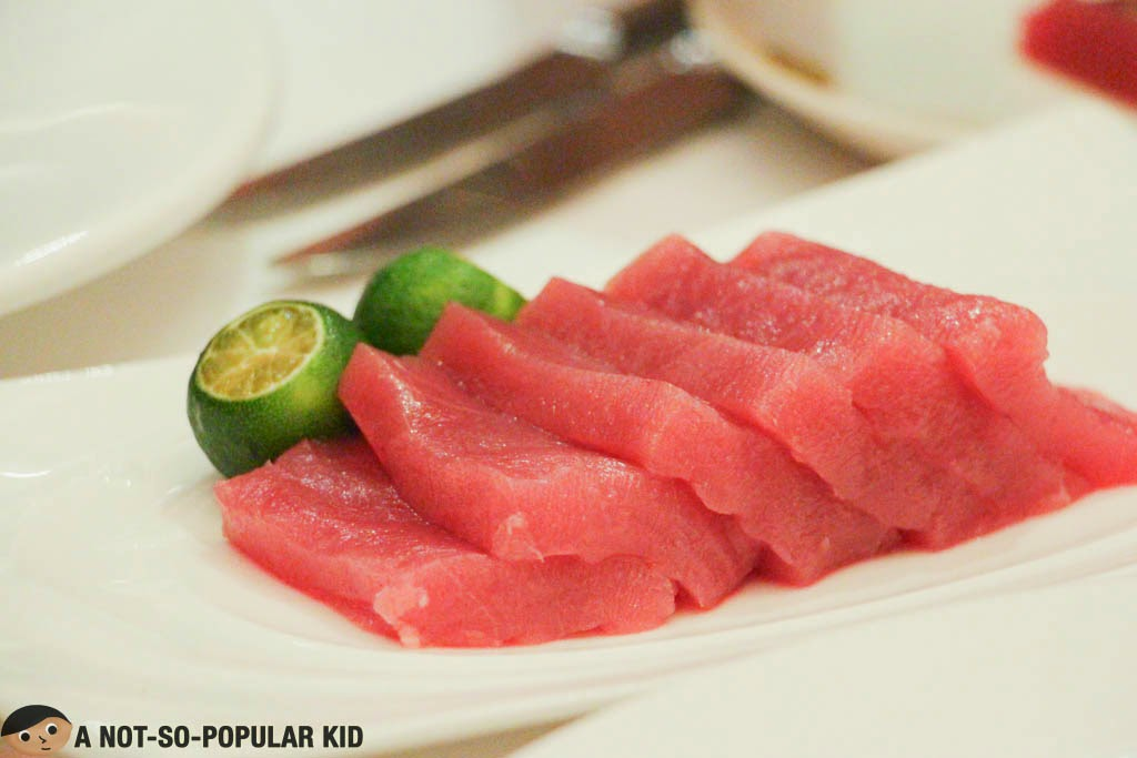 The Tuna Sashimi of Cru Steakhouse for the Seafood Special this March