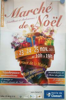 affiche du marché de Noël Clamart
