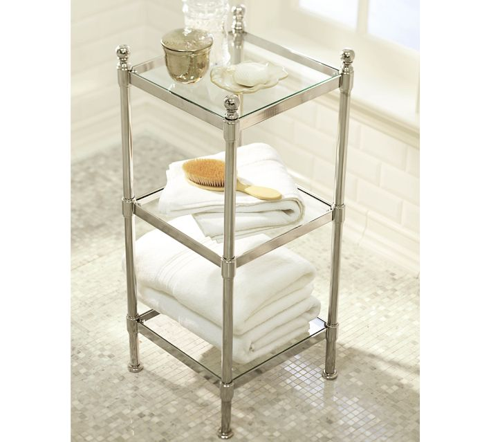 pottery barn metal etagere decor look alikes. Black Bedroom Furniture Sets. Home Design Ideas