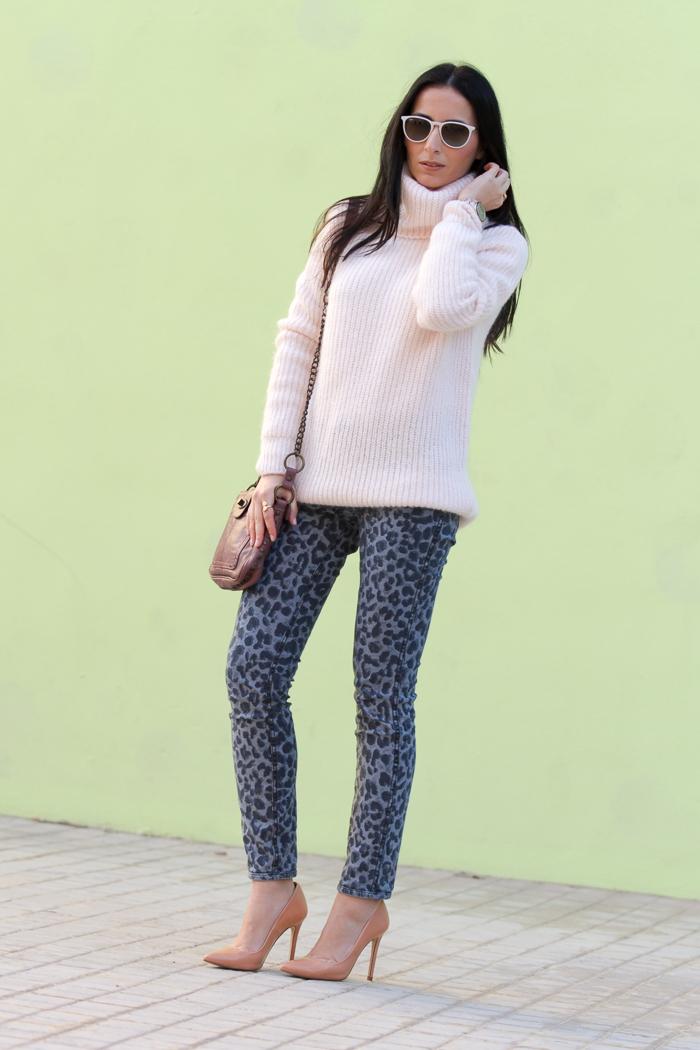 jeans reversibles estampado leopardo azul de Meltin' Pot