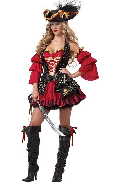 Spanish Pirate Adult Women Costume for Halloween