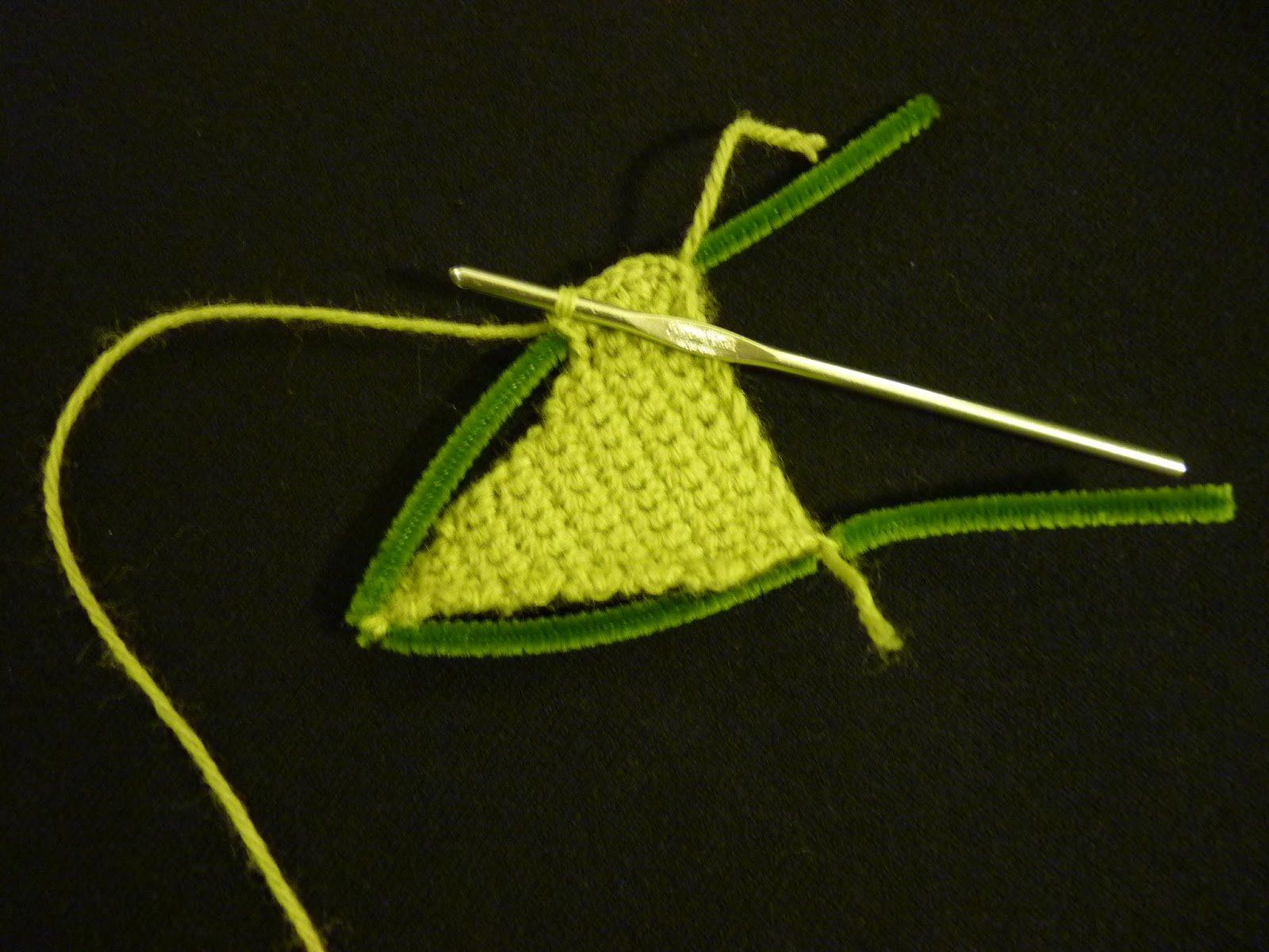 Crochet Pattern Yoda Ears : A Little Dancer: Pinterest Project: Crocheted Yoda Hat ...