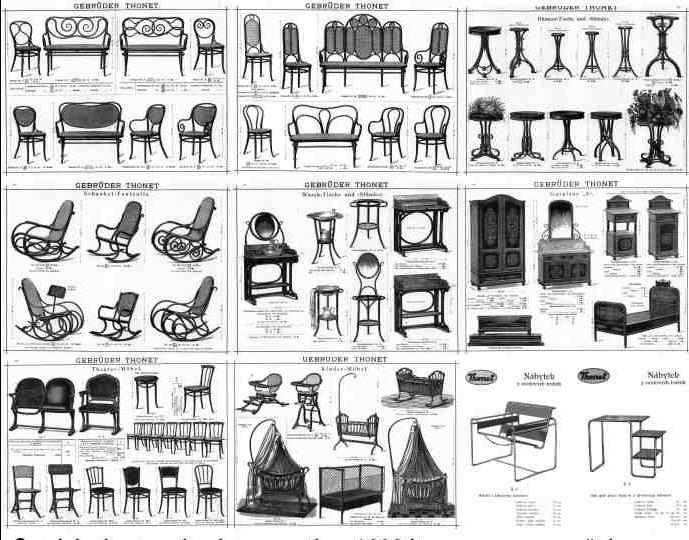 Historia del dise o industrial silla thonet no 14 - Nombres de muebles antiguos ...