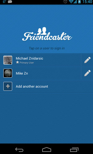 Android Multiple Facebook Accounts