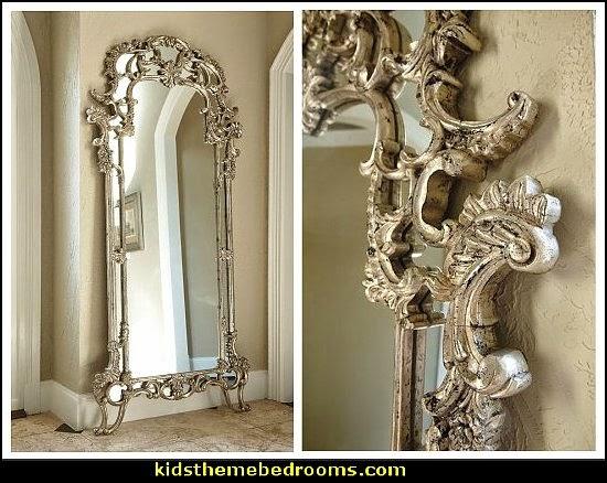 Decorating theme bedrooms maries manor luxury bedroom for Fancy floor mirrors