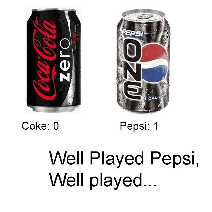 Coca-Cola Zero - Pepsi 1 - Well Played Pepsi, Well Played