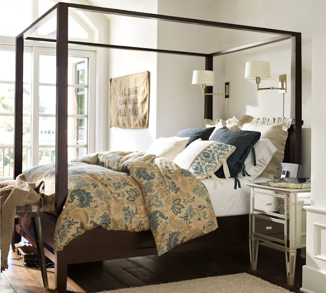 pottery barn 39 s farmhouse canopy bed queen
