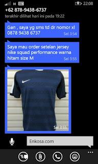 Detail pesanan jersey Hasan di enkosa sport toko online pakaian olahraga lokasi di jakarta