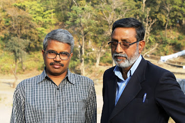 S.Rajen Todariya with Dilip Mandal in Kotdwar, Garhwal